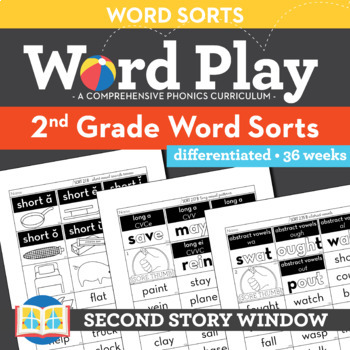 2nd Grade Word Sorts Words Their Way By Second Story Window Tpt