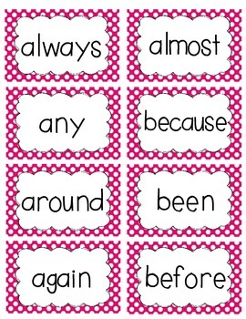 2nd Grade Word Wall