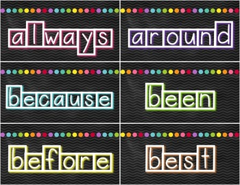 2nd Grade Word Wall Banner, Letter Labels, and Sight Word Cards