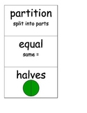 2nd Grade Word Wall Cards-Fractions