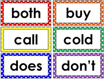 2nd Grade Word Wall Cards (Polka Dot)