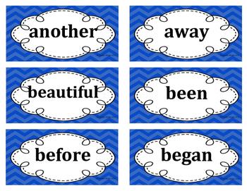 2nd Grade Word Wall Word Set Blue