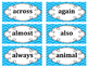 2nd Grade Word Wall Word Set Light Blue