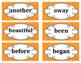 2nd Grade Word Wall Word Set Orange