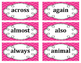 2nd Grade Word Wall Word Set Pink