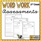 2nd Grade Word Work Assessments with Digital Option for Di