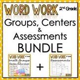 2nd Grade Word Work - Bundle - Groups, Centers, Data Collection, and Assessments