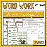 2nd Grade Word Work - FREE SAMPLE - Small Groups, Centers, Assessment