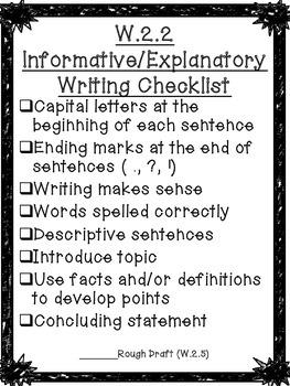 Second Grade Writing Checklists!