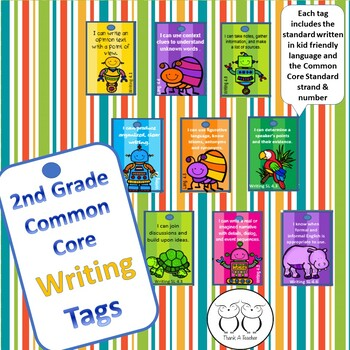 2nd Grade Writing Common Core Brag Tags