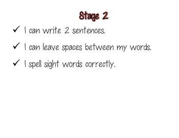 2nd Grade Writing Continuum