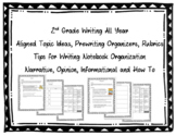2nd Grade Writing Organizers & Rubrics {Narrative, Opinion