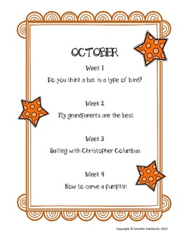 2nd Grade Writing Prompts - Fall Unit
