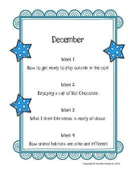 2nd Grade Writing Prompts - Winter Unit