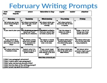 2nd Grade Writing Prompts f... by Freeman's 2nd Grade ...