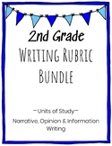 2nd Grade Writing Rubric Bundle