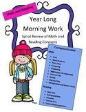 Math and Reading Morning Work Year Long 2nd Grade (180 days worth)