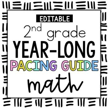 2nd Grade Year Long Pacing Guide for Math: Common Core Aligned