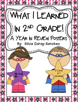 2nd Grade Year in Review Write-In Posters