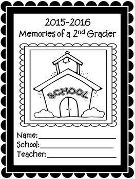 2nd Grade Yearly Memories Memory Book