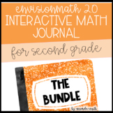 2nd Grade enVision Math 2.0 Interactive Math Journal BUNDLE