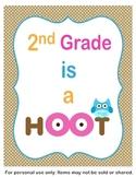 2nd Grade is a Hoot Classroom Sign