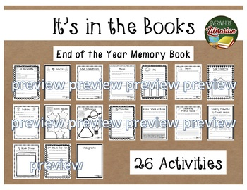 2nd Grade is in the Books! - End of the Year Memory Book - 26 Activities NO PREP