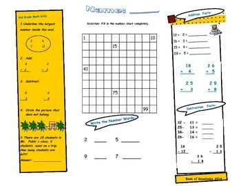 2nd Grade math Drills