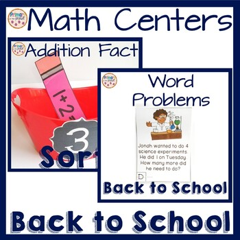 2nd Grade math centers- Back to School Themed