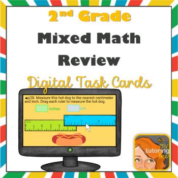 2nd Grade math review assessment Boom Cards