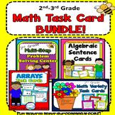 Arrays, Multi-Step, Addition, Subtraction for 2nd, 3rd  Math Task Card Bundle