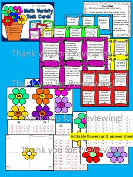 Arrays, Multi-Step, Addition, Subtraction for 2nd, 3rd  Math Task Card Bundle