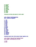 2nd Grade spelling and vocabulary list