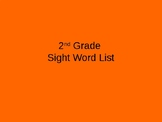 2nd Grade timed Sight Word power point (editable)