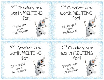 2nd Graders Are Worth Melting For- Goodbye Present