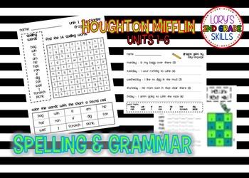2nd Houghton Mifflin Spelling  Units 1-6