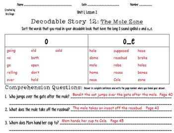 2nd Imagine It Decodable 12 and Word Sort
