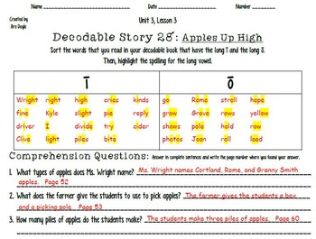 2nd Imagine It Decodable 28 and Word Sort