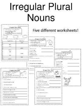 35 FREE ESL irregular plurals worksheets