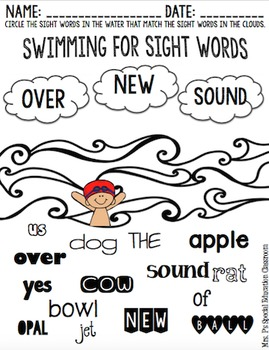 2nd Level Camp Sight Words Activity Pack