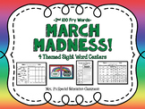 2nd Level March Madness Sight Words Centers