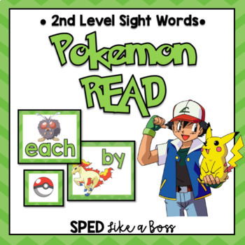 2nd Level Sight Words Pokemon READ!