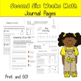 2nd Math Center Journal Pages