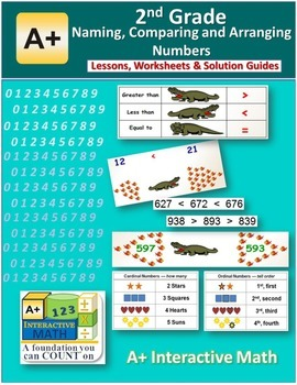 2nd Naming, Comparing & Arranging Numbers Lessons, Workshe