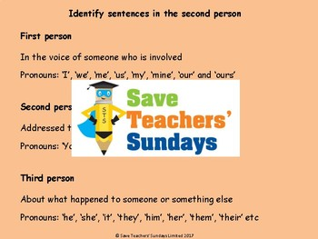 2nd Person / Second Person Worksheet and Lesson Plan