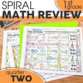 2nd Quarter Spiral Math Review | 1st Grade Morning Work |