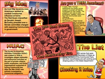 2nd Red Scare Simulation Lecture/PowerPoint-FUN