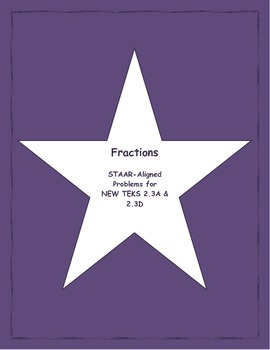 2nd STAAR Prep Fractions New TEKS 2.3A & 2.3D