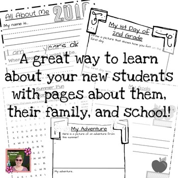 2nd (Second) Grade  Back to School (All About Me) Book {No Prep}