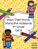 2nd Second Grade Dolch Sight Word Interactive Notebooks Set 6